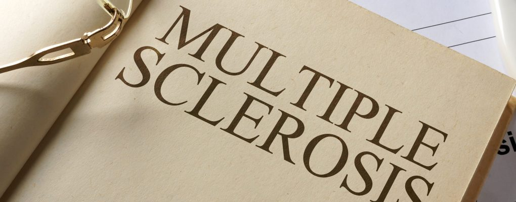 Book with multiple sclerosis printed on page