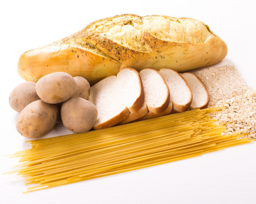 Selection of refined carb foods